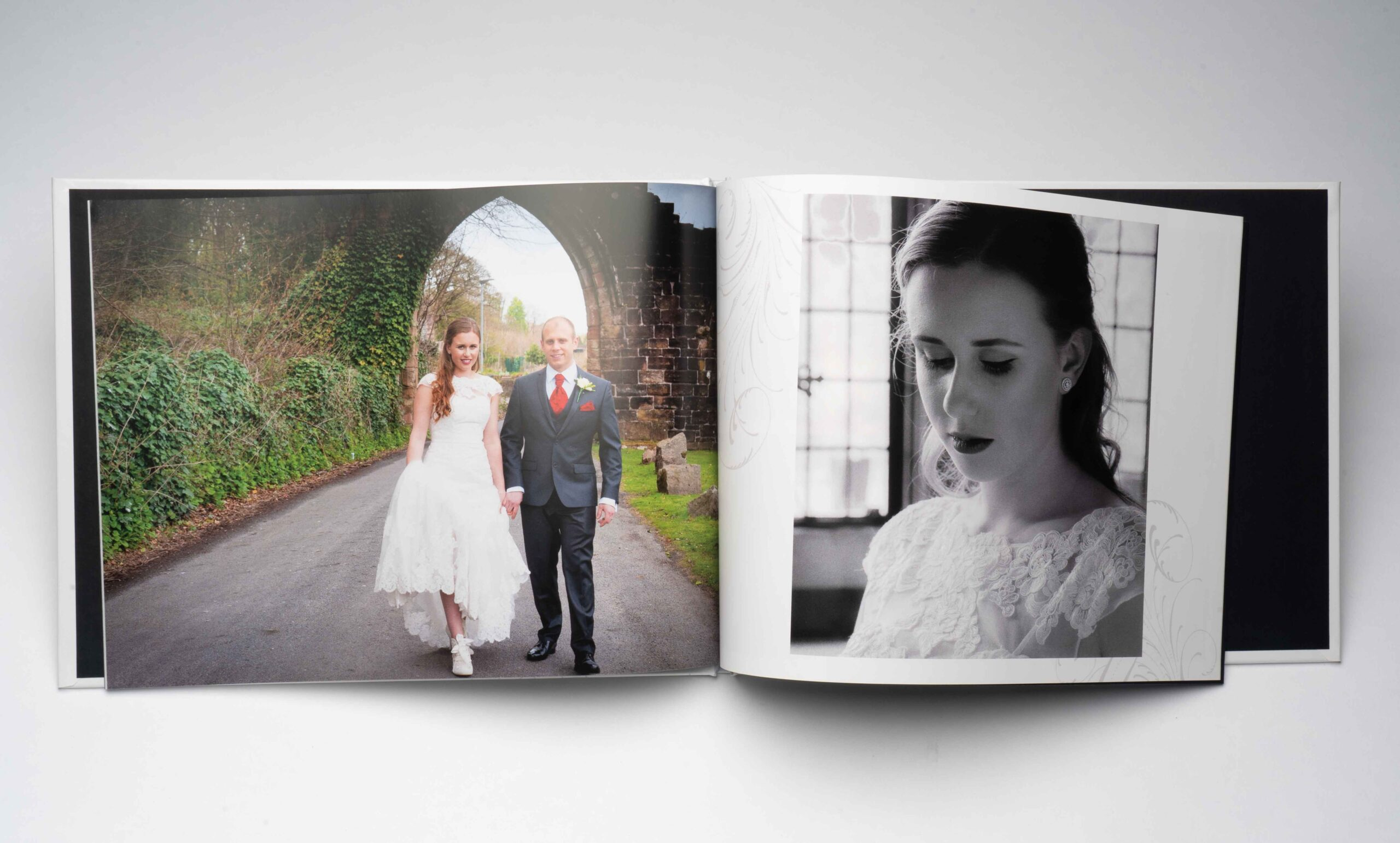 Inside wedding photobook